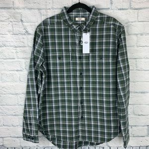 NWT Ugg Anders Flannel Shirt L
